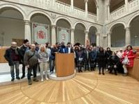 Visita estudiantes del Centro Público de E.P.A. Plus Ultra de Logroño